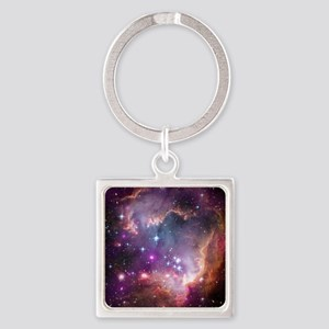 Beauty of Space Square Keychain