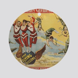 Vintage Barnum & Bailey Greatest Sh Round Ornament