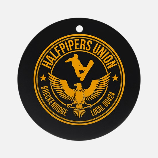 Breck Halfpipers Union Gold Ornament (Round)