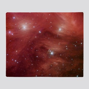 Space, Red Throw Blanket