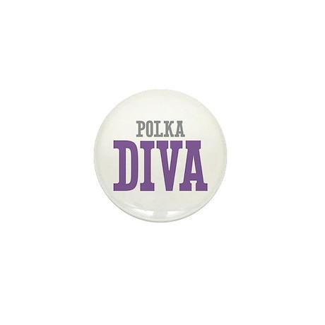 Polka DIVA Mini Button