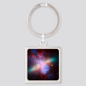 Space Square Keychain