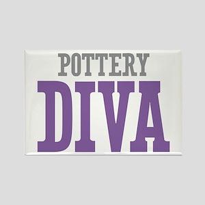 Pottery DIVA Rectangle Magnet