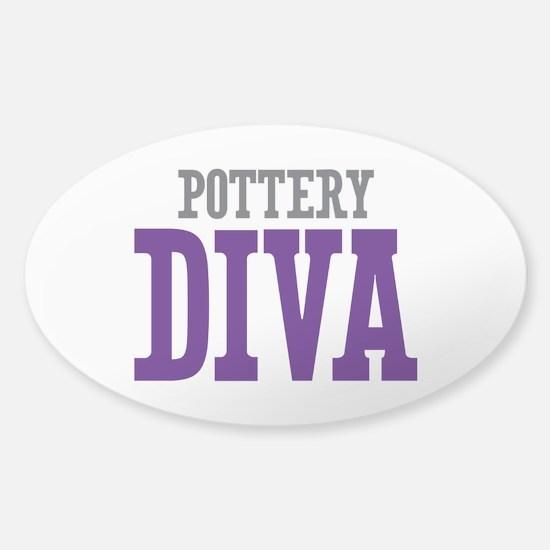 Pottery DIVA Sticker (Oval)