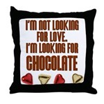 Looking for Chocolate Throw Pillow