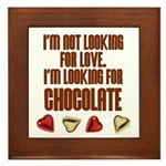 Looking for Chocolate Framed Tile