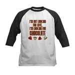 Looking for Chocolate Kids Baseball Jersey