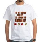 Looking for Chocolate White T-Shirt