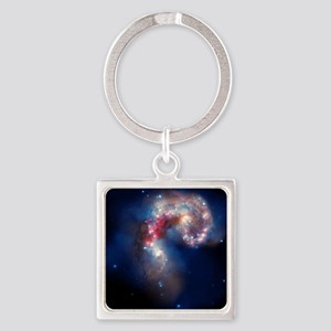 Space and Beyond Square Keychain