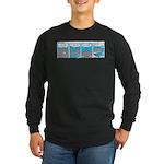 Shark and Remora Long Sleeve Dark T-Shirt