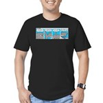 Shark and Remora Men's Fitted T-Shirt (dark)