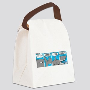 Shark and Remora Canvas Lunch Bag