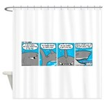 Shark and Remora Shower Curtain