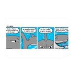 Shark and Remora 35x21 Wall Decal