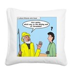 Whaling Wall Ahab Square Canvas Pillow