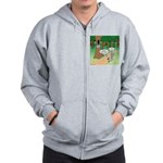 Forest Time Share Zip Hoodie