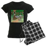 Forest Time Share Women's Dark Pajamas