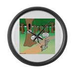 Forest Time Share Large Wall Clock