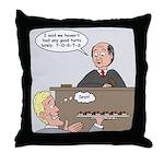 Torts not Tarts Throw Pillow