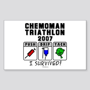 2007 Chemoman Triathlon Rectangle Sticker