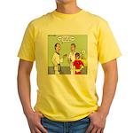 Karate Side Kick Yellow T-Shirt