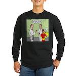 Karate Side Kick Long Sleeve Dark T-Shirt