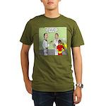 Karate Side Kick Organic Men's T-Shirt (dark)