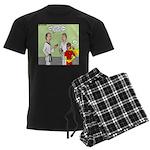 Karate Side Kick Men's Dark Pajamas