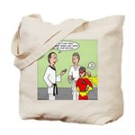 Karate Side Kick Tote Bag