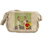 Karate Side Kick Messenger Bag
