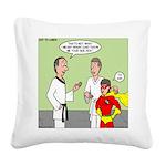 Karate Side Kick Square Canvas Pillow