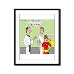 Karate Side Kick Framed Panel Print