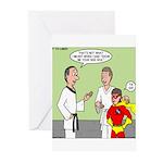 Karate Side Kick Greeting Cards (Pk of 10)
