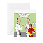 Karate Side Kick Greeting Card