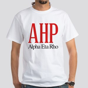 Alpha Eta Rho Letters White T-Shirt