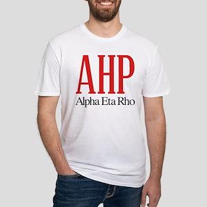 Alpha Eta Rho Letters Fitted T-Shirt