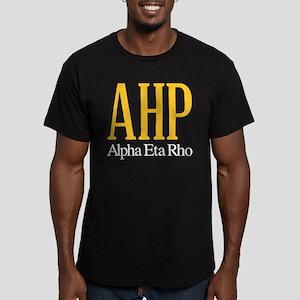 Alpha Eta Rho Letters Men's Fitted T-Shirt (dark)