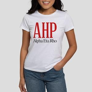 Alpha Eta Rho Letter Women's Classic White T-Shirt