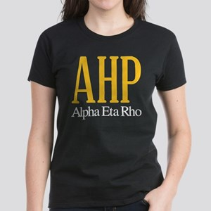 Alpha Eta Rho Letters Women's Dark T-Shirt