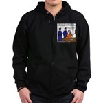 Death Row Tech Support Zip Hoodie (dark)