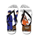 Death Row Tech Support Flip Flops