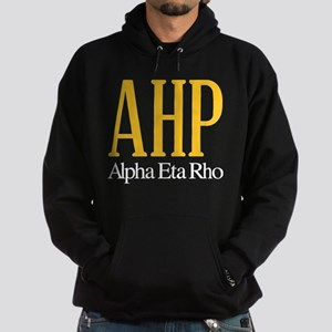 Alpha Eta Rho Letters Hoodie (dark)