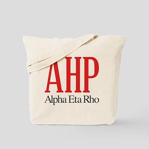 Alpha Eta Rho Letters Tote Bag