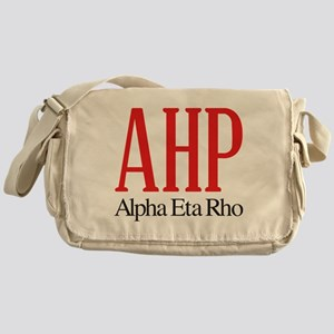 Alpha Eta Rho Letters Messenger Bag