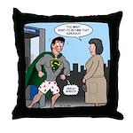 Not So Super Mondays Throw Pillow
