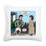 Not So Super Mondays Square Canvas Pillow