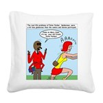 Real Spider Man Girl Problems Square Canvas Pillow