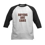 Buyers are Liars Kids Baseball Jersey