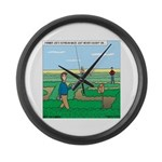 Soybean Maze Large Wall Clock