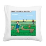 Soybean Maze Square Canvas Pillow